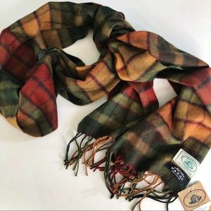 NEW McCulley's Scottish Cashmere Plaid Scarf Green